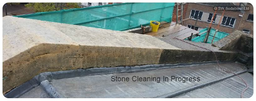 super heated steam - stone cleaning